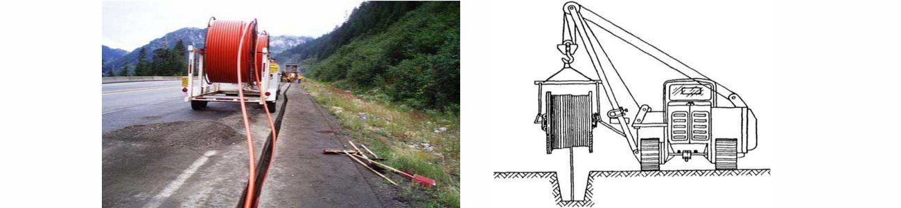 волоконно оптический кабель укладка
